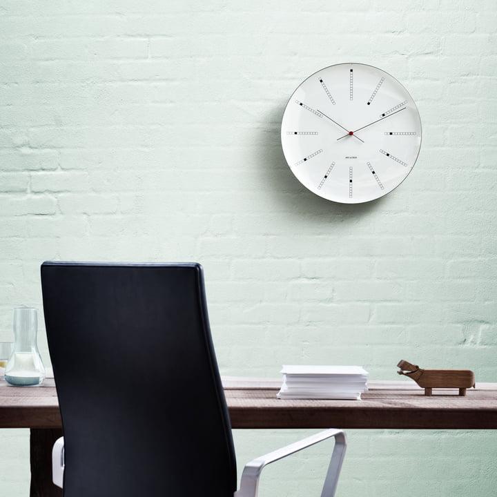 Rosendahl - AJ Bankers Wall Clock - ambience, green wall