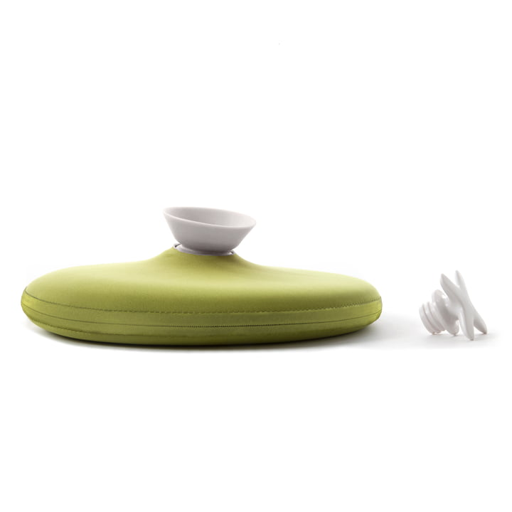 Authentics - Pill hot water bottle, lime green