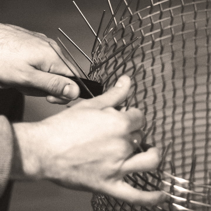 Hand-Woven Wire Baskets by Korbo