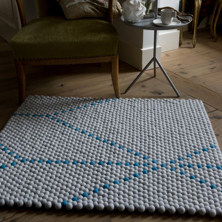 Hay - S&B Dot Carpet, big blue