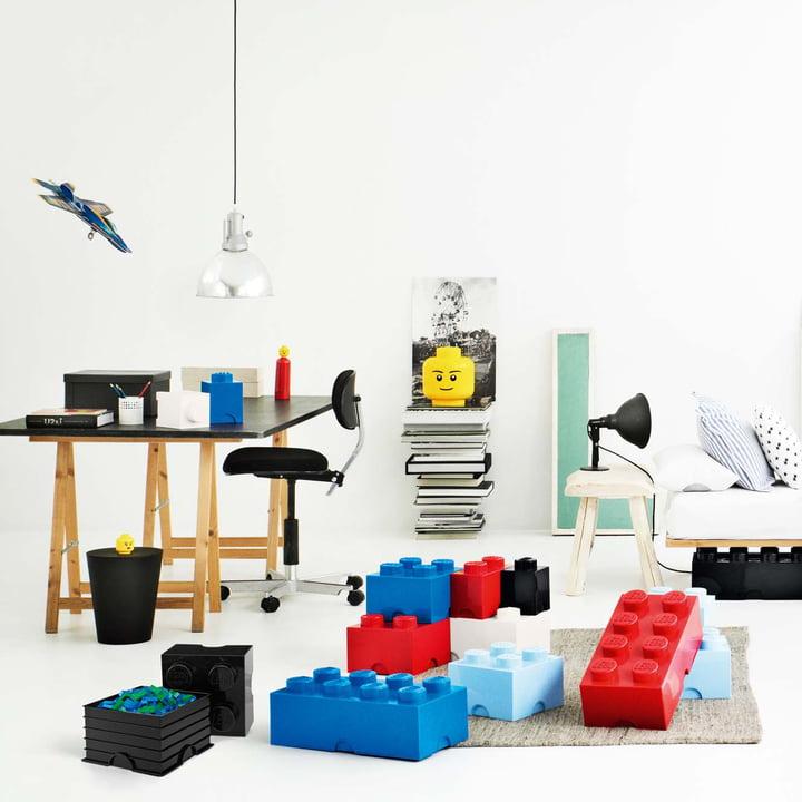 Lego - Storage Box, blue, red, Head L