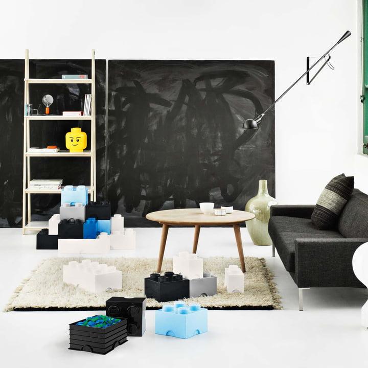 Lego - Storage Box, blue, Head L