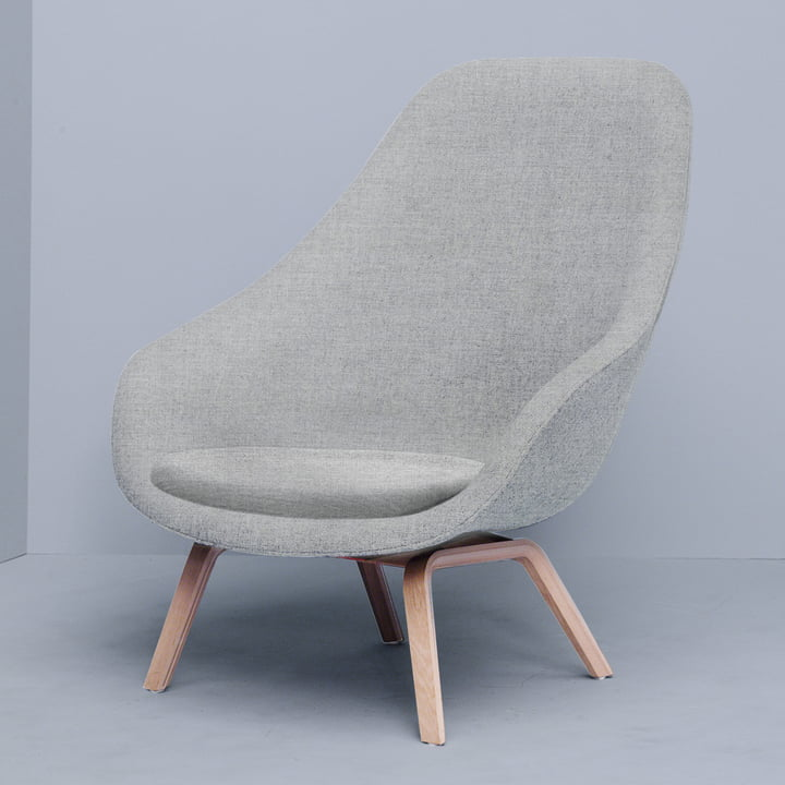 Hay - About A Lounge Chair, High / AAL 93, Remix light grey