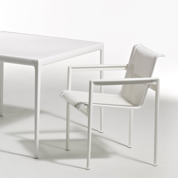 Knoll - 1966 dining table seat, rectangular, white