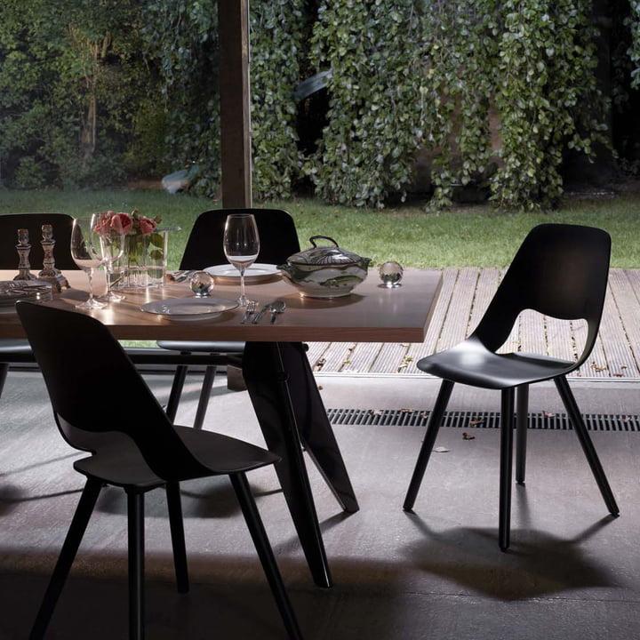 Vitra - Em Table, oak natural/ black - eating room