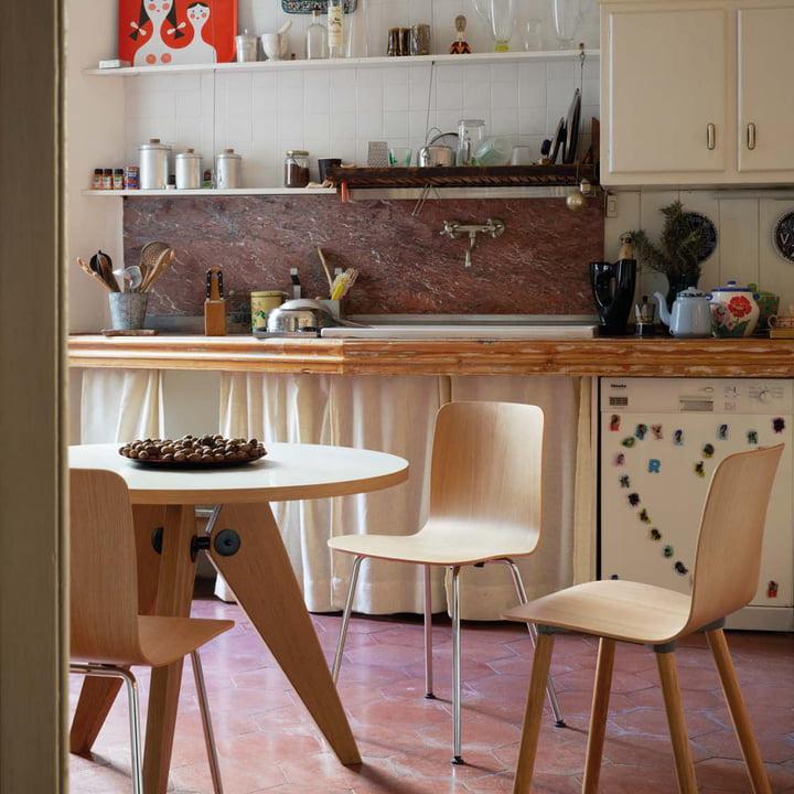 Vitra - Guéridon Table, oak natural - kitchen