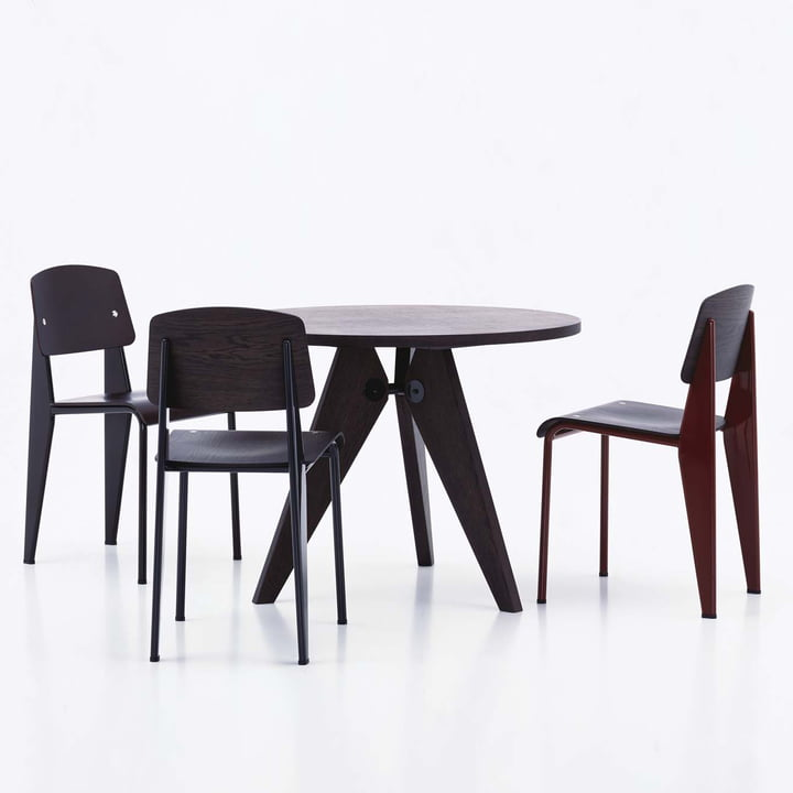 Vitra - Guéridon Table, oak dark, 95 cm