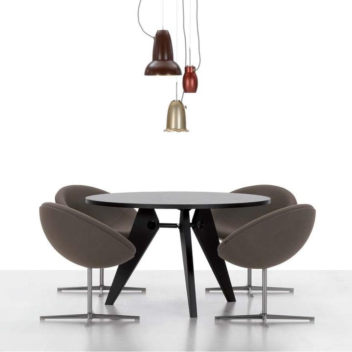 Vitra - Guéridon Table, oak dark - showroom