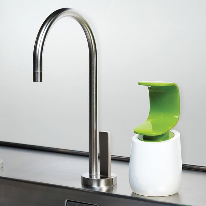 Joseph Joseph - C-pump soap dispenser, white/ green