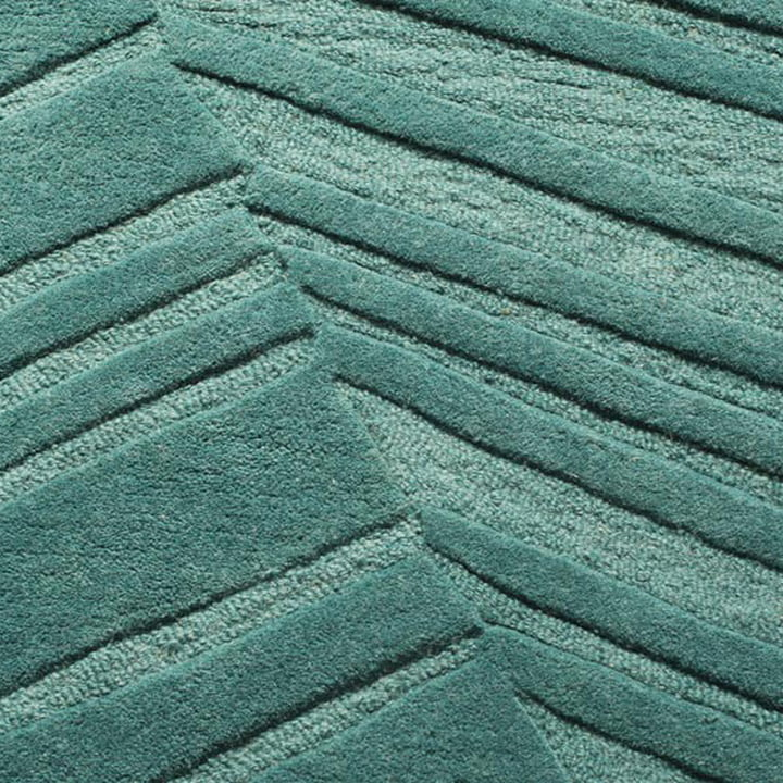 Ruckstuhl - Palm Leaf carpet, pine green