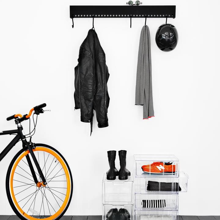 Nomess - So-Hooked Coat Rack, black, 90 cm