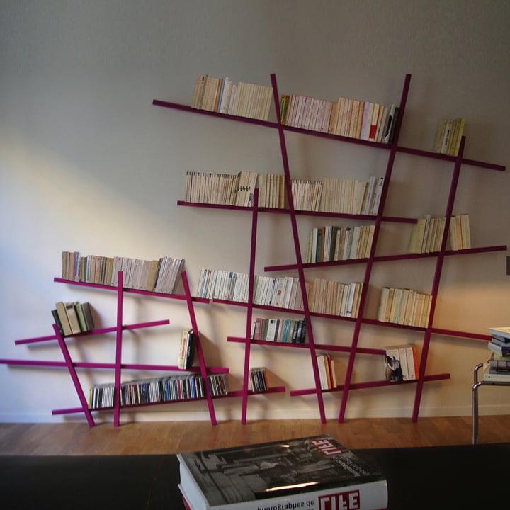 Edition Compagnie - Mikado bookshelf, large, small, pink