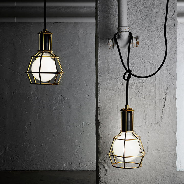 Design House Stockholm - Work Lamp, gold - illuminated