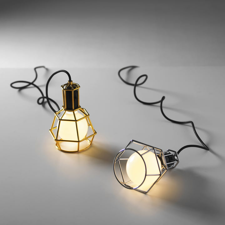 Design House Stockholm - Work Lamp, silver, gold - illuminated
