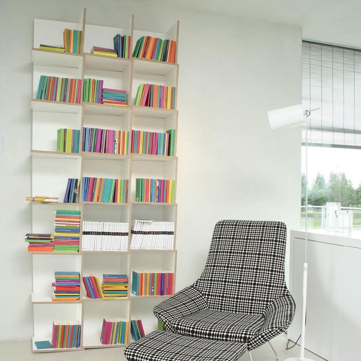 Jonas Jonas - Tri modules shelf, white - 3 x 7