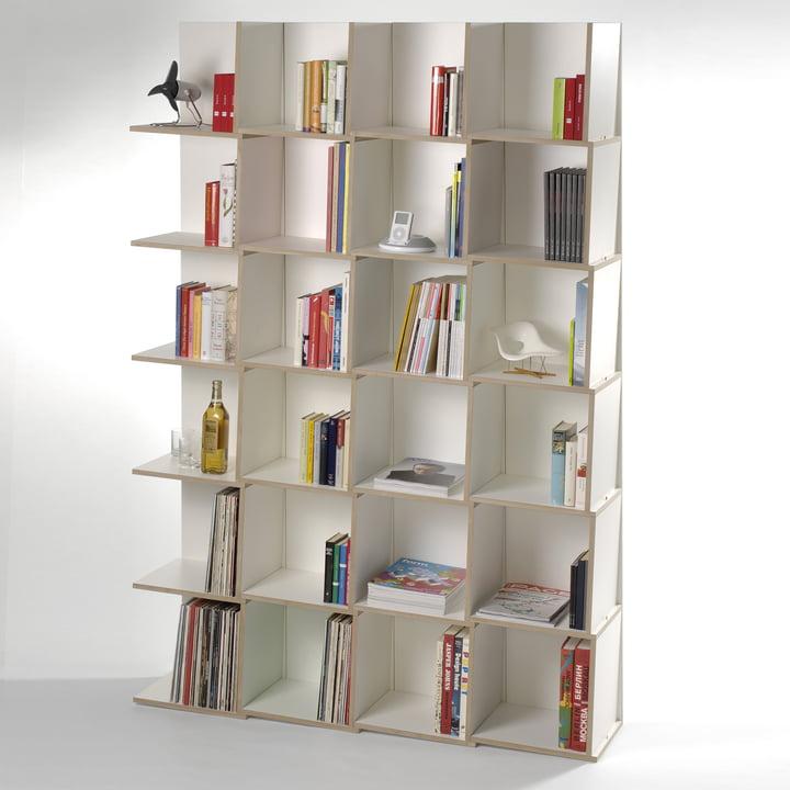 Jonas Jonas - Tri modules shelf, white - 4 x 6