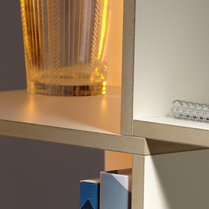 Jonas Jonas - Tri modules shelf, white - Details, edge