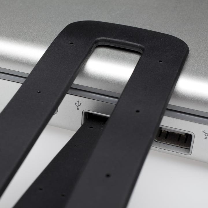 Moleskine - LED Reading Lamp - black, details, USB-connection