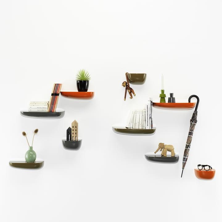 Vitra - Corniches, orange, dark grey, khaki