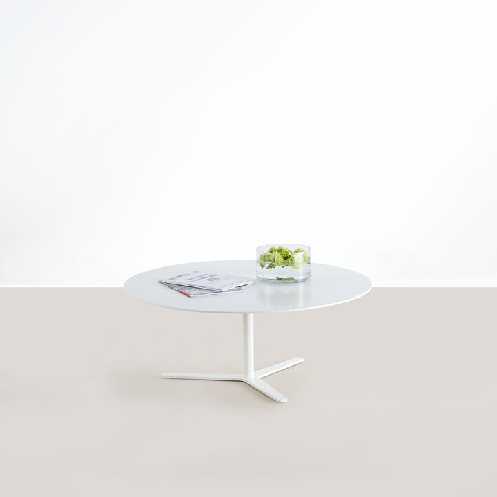 The Tre 90 Coffee Table of Mox in White