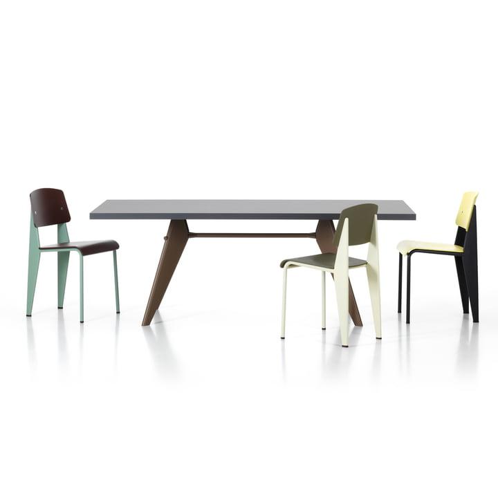 Vitra - Prouvé Standard SP chair, EM Table