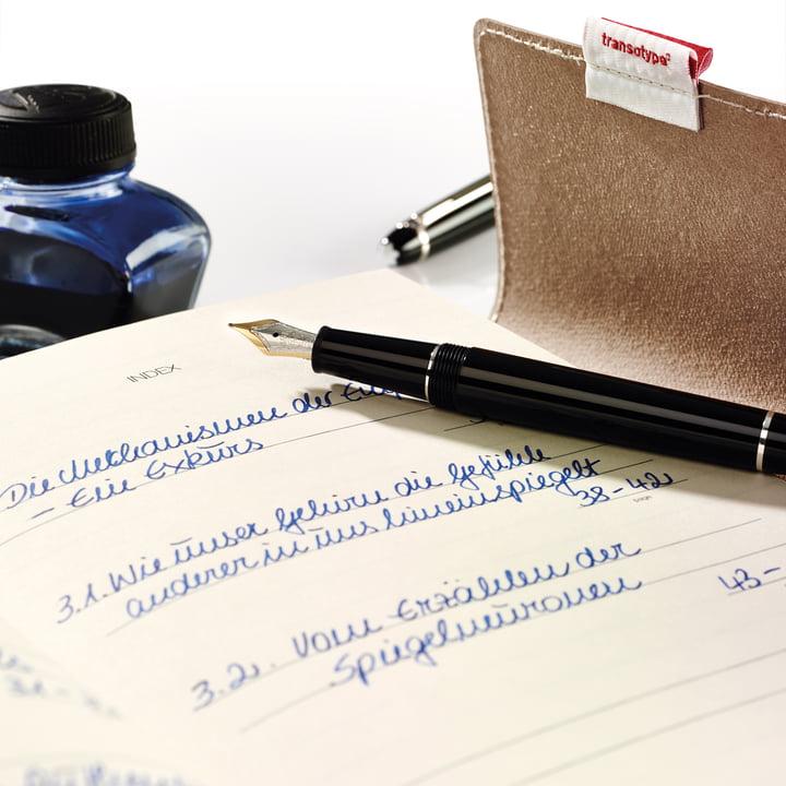 Holtz - sense Book Flap - fountain pen