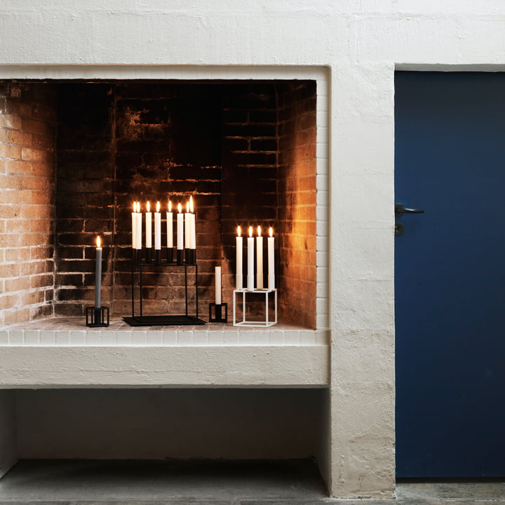 The by Lassen - Kubus candleholder in fireplace atmosphere