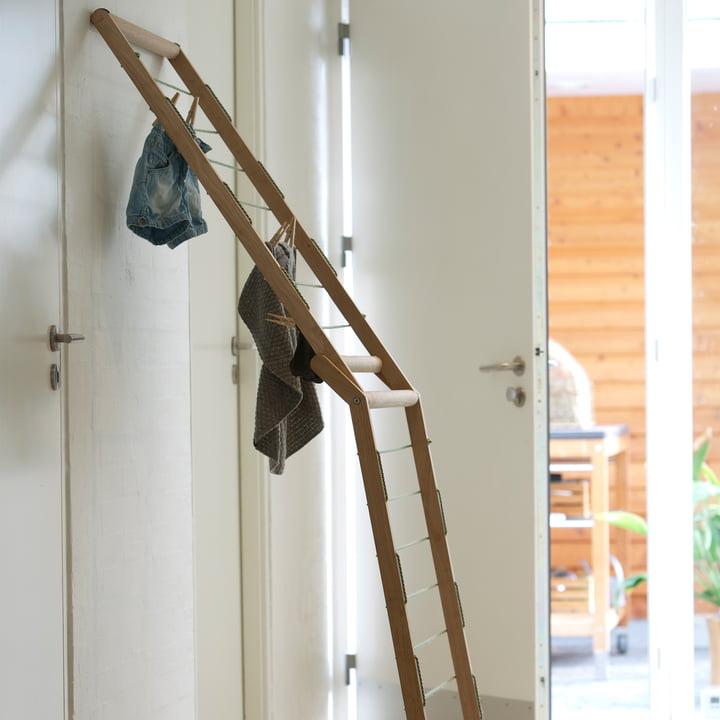 Skagerak - Dryp clothes horse, oak wood - leaning