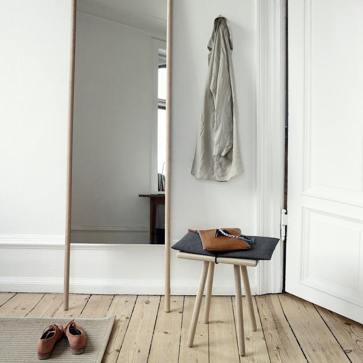 Skagerak - Georg Stool, Mirror, oak wood