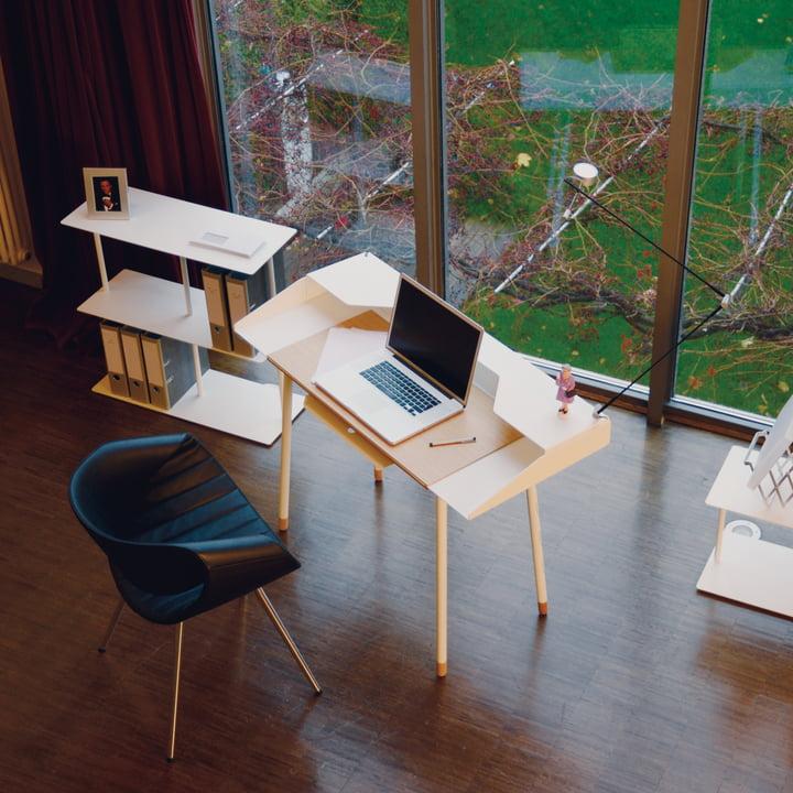 Radius Design - Miss Moneypenny Secretary, with shelves