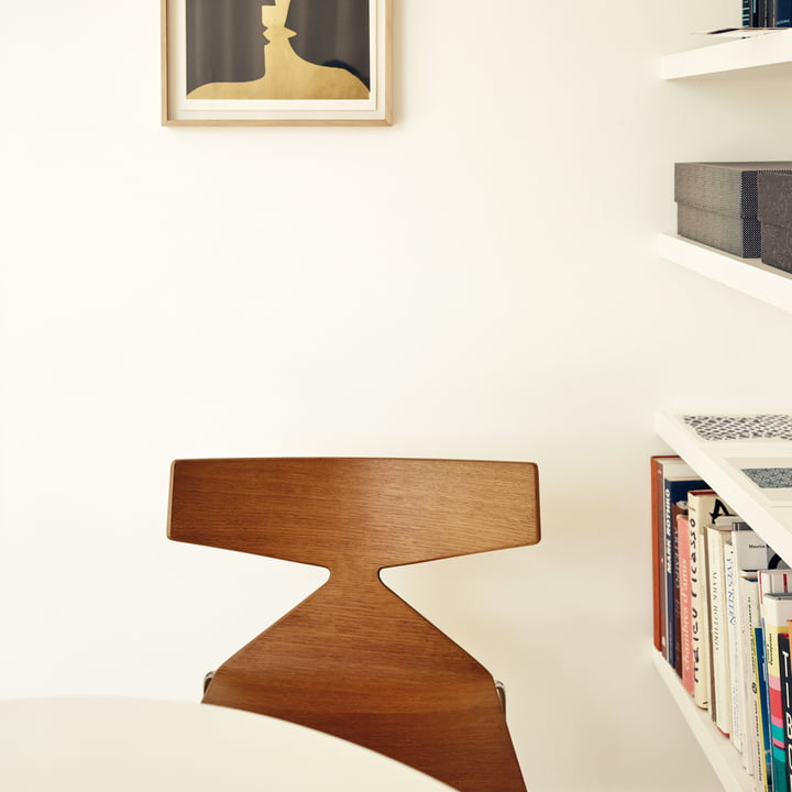 Arper - Saya Chair, steel legs, teak