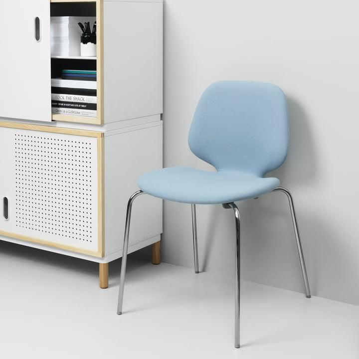 Normann Copenhagen - My Chair, upholstered / light blue