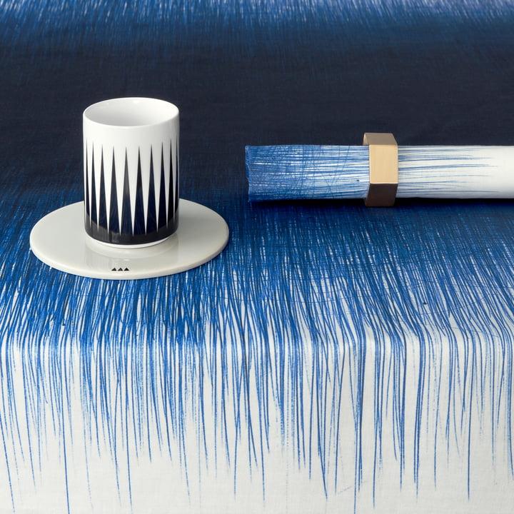 ferm Living - Pen Table Cloth, blue - close-up
