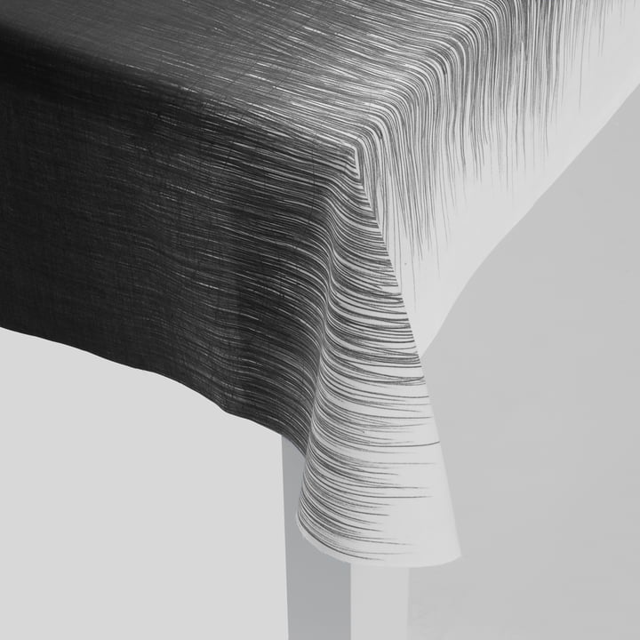 ferm Living - Pen Table Cloth, grey - detailed, corner