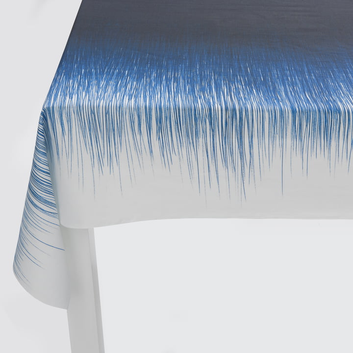 ferm Living - Pen Table Cloth, blue - detailed, lateral