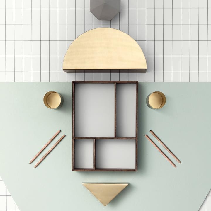 ferm Living - Brass Semicircle paper holder