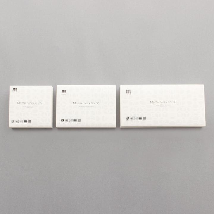 3120 Mino - memo block 5x50 - group, sizes