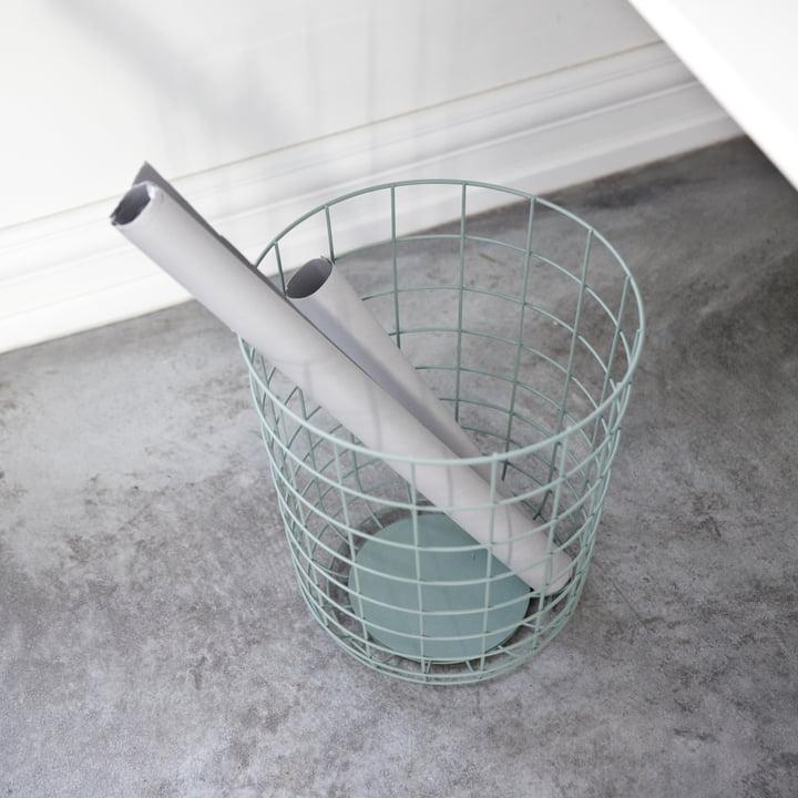 Menu - Wire Bin, moss green