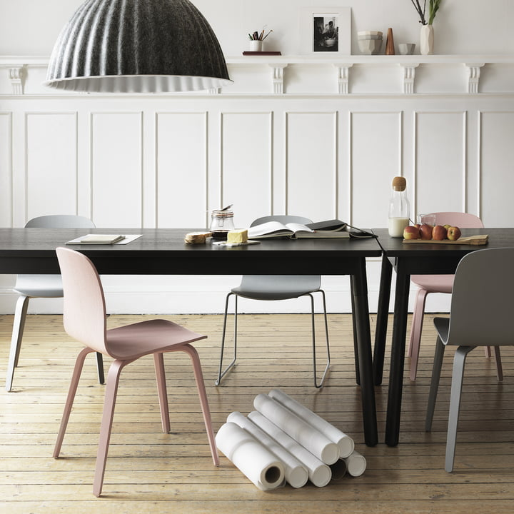 Muuto - Visu Chair, wood, wire - group