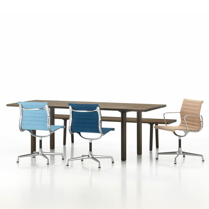 Vitra - Wood Table / Bench / Aluminium Group EA104