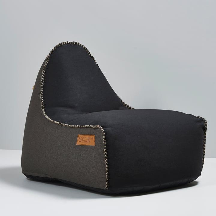 Sack it - Retro it Indoor Beanbag, black / brown