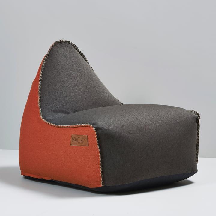 Sack it - Retro it Indoor Beanbag, brown / orange