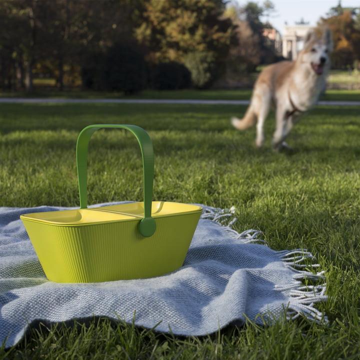A di Alessi - PetNic Travel Organizer For Pets, green