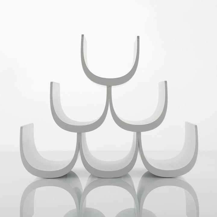 Alessi - Noè Modular bottle rack with modular system, empty, white