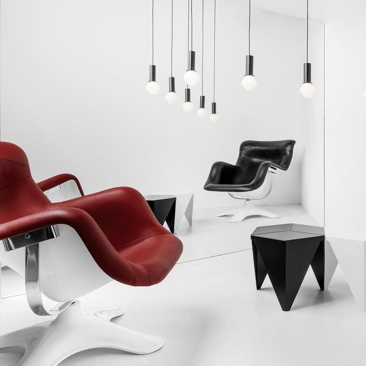 Artek - Karuselli Lounge Chair, red / white
