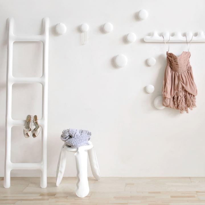 Zieta - Drab coat rack, white