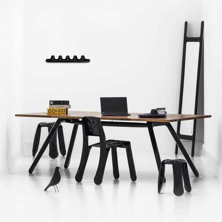 Zieta - Kamm 5 wall coat rack, black