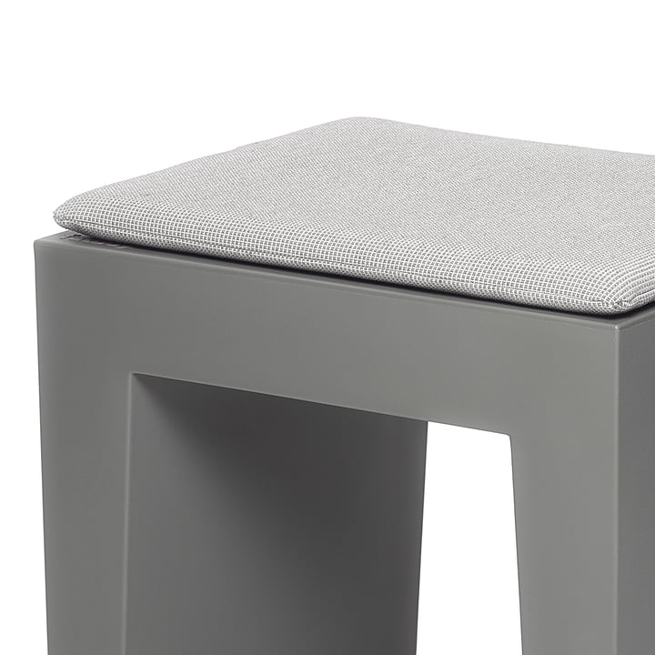 Fatboy - Concrete seat, grey, cushion crosshatch-grey