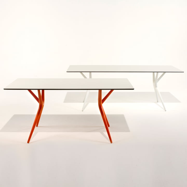 Kartell - Spoon Table, white and orange