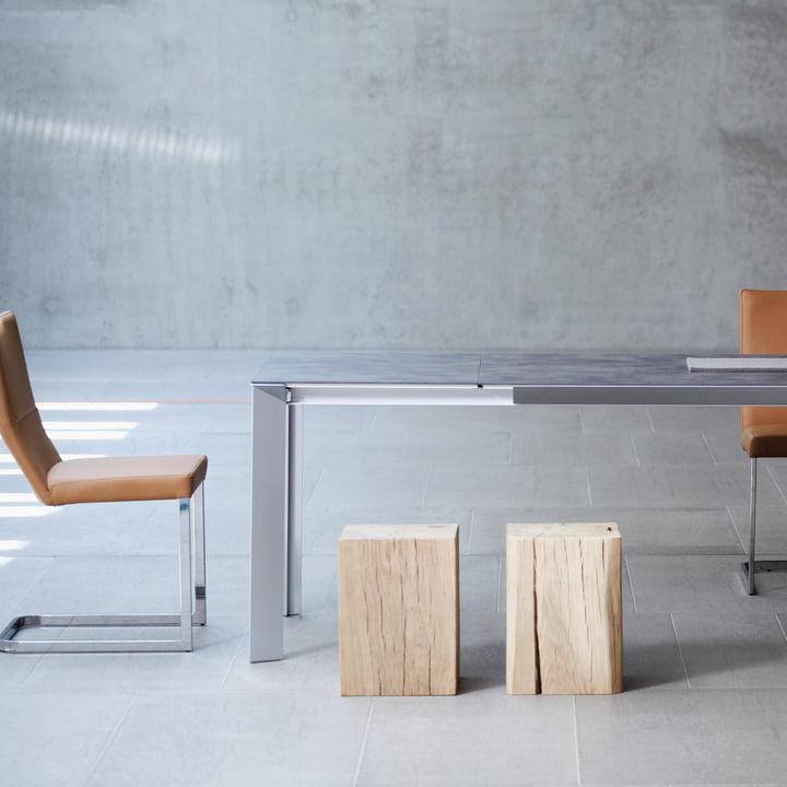 Jan Kurtz - Block Stool, at the dining table